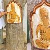 30 அடி சந்தனமரத்தில் 'திருவள்ளுவர்' உருவம்!