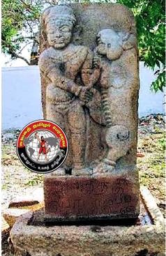 திருப்பூர் கோவை மாவட்ட எல்லையில் தமிழ் எழுத்துகளுடன் புலிக்குத்திக்கல் கண்டெடுப்பு !