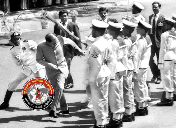 இலங்கை-இந்திய ஒப்பந்தத்தை சிங்கள எதிர்ப்பால் தாக்கப்பட்ட ராஜீவ்காந்தி!