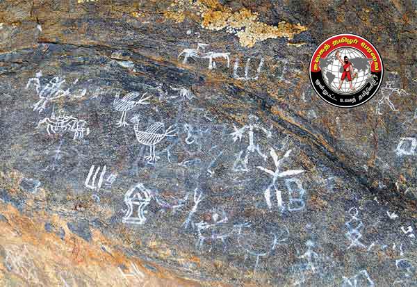 தர்மபுரி மாவட்டம், ராயக்கோட்டை அருகே 2,500 ஆண்டு பழமை வாய்ந்த பாறை ஓவியங்கள் கண்டுபிடிப்பு!