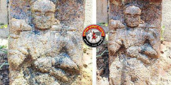 திருவாடானை அருகே சோழர் கால வீரனின் நவகண்ட சிற்பம் கண்டெடுப்பு!