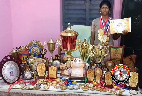 அமெரிக்காவில் நடைபெற்ற யோகா போட்டியில், சீர்காழி மாணவி முதலிடம்!
