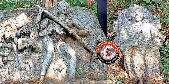 திருவில்லிபுத்தூர் அருகே 15ம் நூற்றாண்டுக்கு முற்பட்ட புலிக்குத்தி வீரர், மன்னர் நடுகல் கண்டுபிடிப்பு!